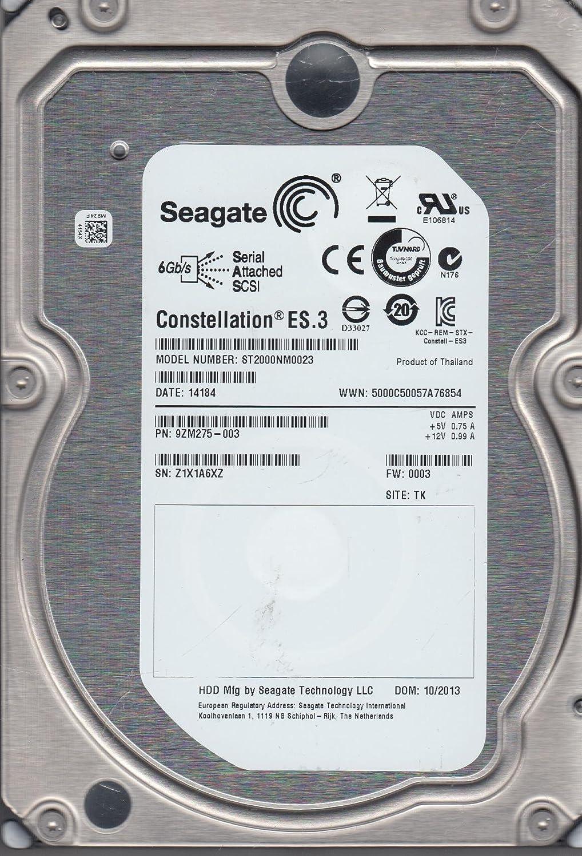 Z1X ST2000NM0023 FW 0003 PN 9ZM275-003 Seagate 2TB SAS 3.5 Hard Drive TK