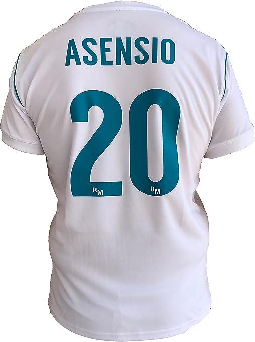 Rogers SL - REAL MADRID Camiseta Jersey Futbol ASENSIO 20 Replica Autorizado 2017-2018 Niños (2,4,6,8,10,12,14 año) Adultos (Small, Medium, Large, Xlarge, Xxlarge) (Talla 6 Años): Amazon.es: Deportes y aire libre