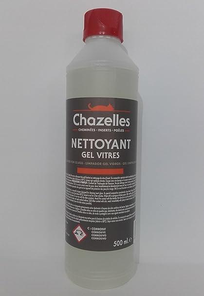 Chazelles Vitres Full Fuerza Gel, Gel Limpiador 500 ml, Gel Limpiador Para Cristal de