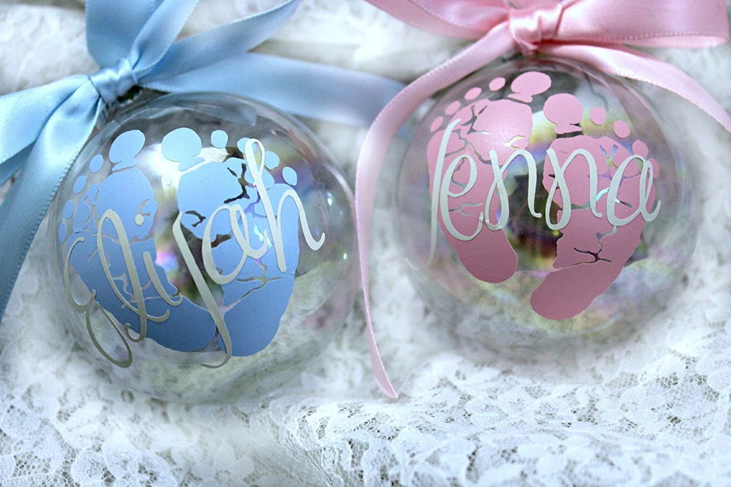 Amazon.com: Amazing Personalized Baby's First Christmas Ornament ...