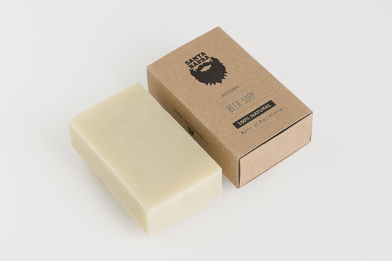 Kit PURE para barba Santa Barba - 1 Aceite + 1 Jabón de Cerveza + 1 Jabonera: Amazon.es: Belleza