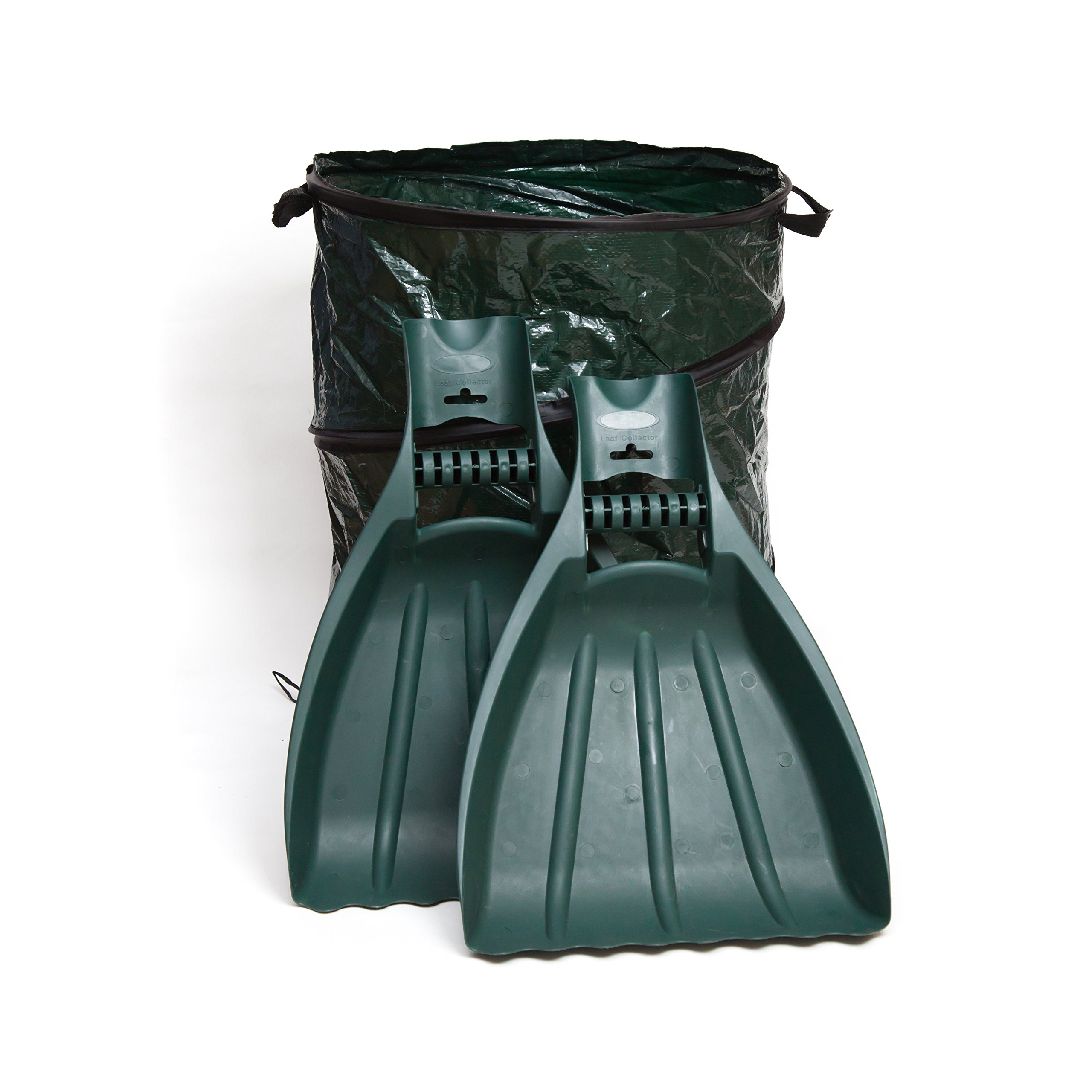 Kenley Leaf Scoops with Collapsible Yard Waste Garbage Bag Composting Bin – Leaf Hand Rakes for Leaves Grass Debris - Grabber Picker Tool for Garden or Lawn with Pop Up Composting Garbage Bag by Kenley (Image #1)