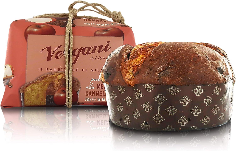 Vergani Apple and Cinnamon Panettone, Italian Recipe, Gourmet Line - 750g / 1lb 10.4oz