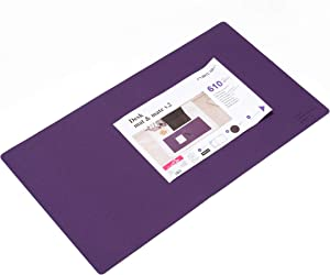 Extended Gaming Mouse Pad Extra Large Size Desk Keyboard Mat Non Slip Waterproof (Purple)