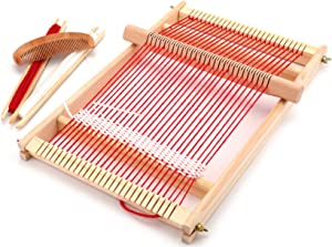 Yesland Multi-Craft Weaving Loom - Wooden Loom Large Frame Handcraft for Kids and Beginners -15.6 × 9.7 × 1.2 Inches