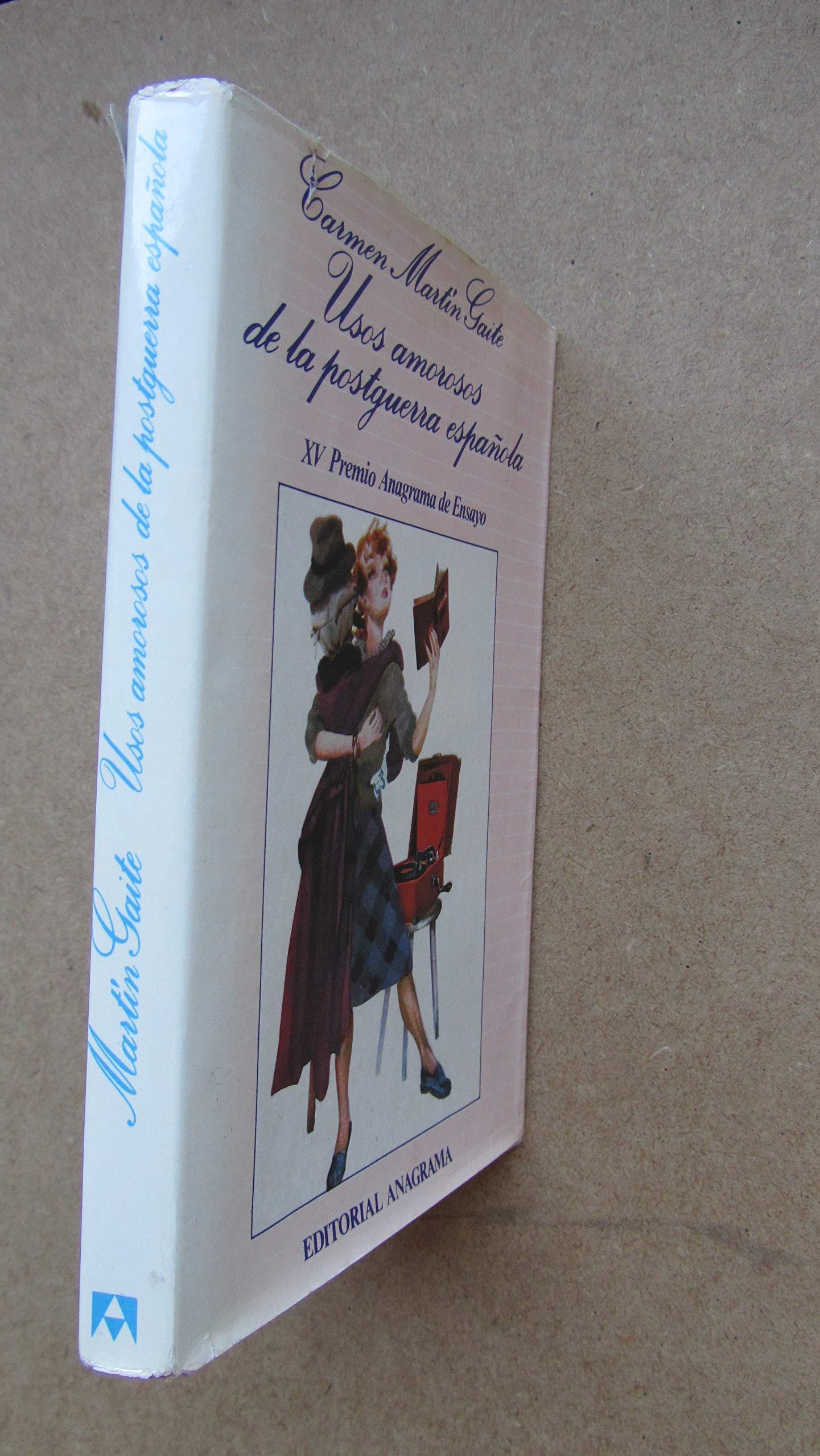 Usos amorosos de la postguerra española (Argumentos): Amazon.es: Martín Gaite, Carmen: Libros