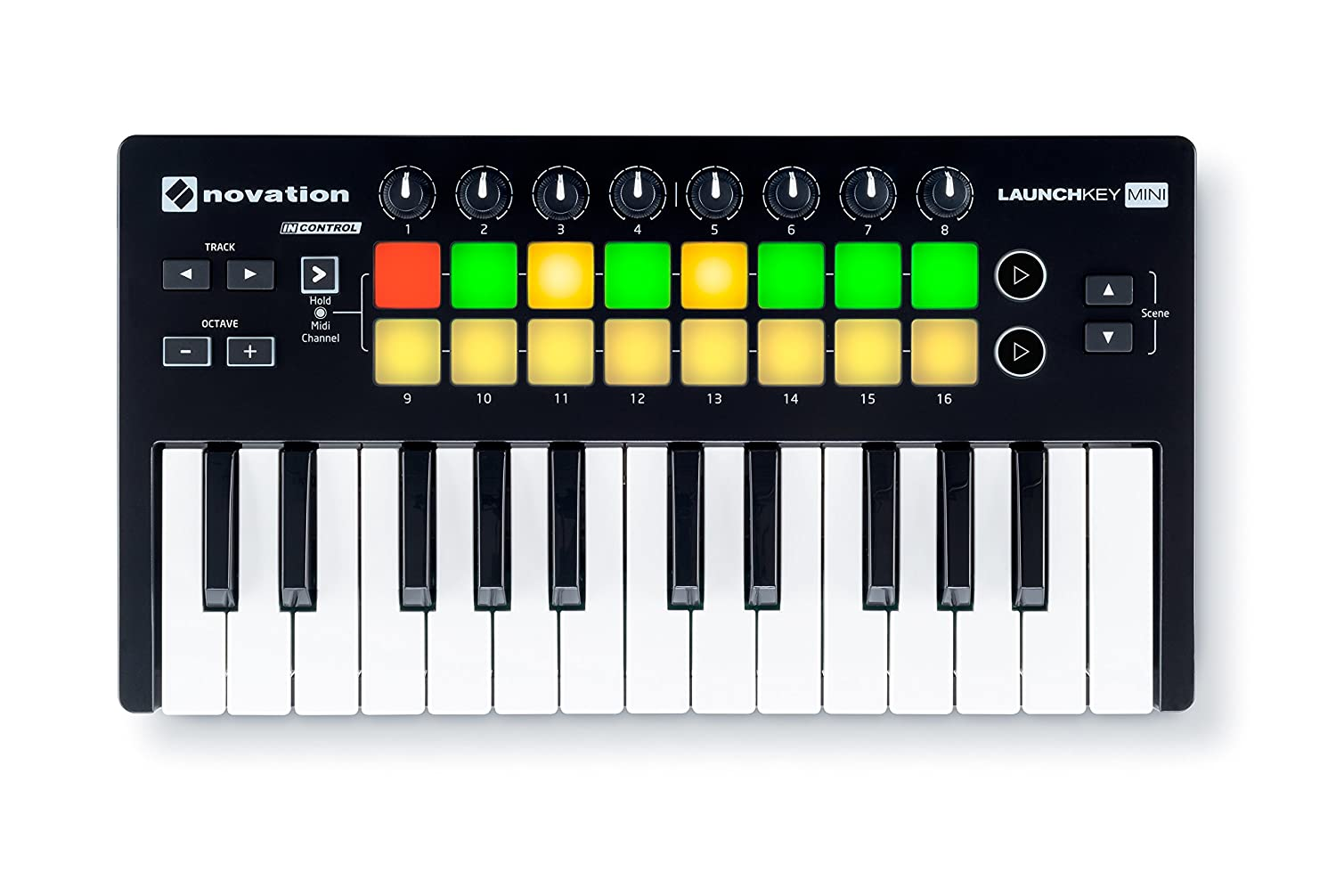 Novation - Launchkey Mini MK2 teclado controlador MIDI - USB Novation LaunchKey Mini MKII AMS-LAUNCHKEY-MINI-MK2