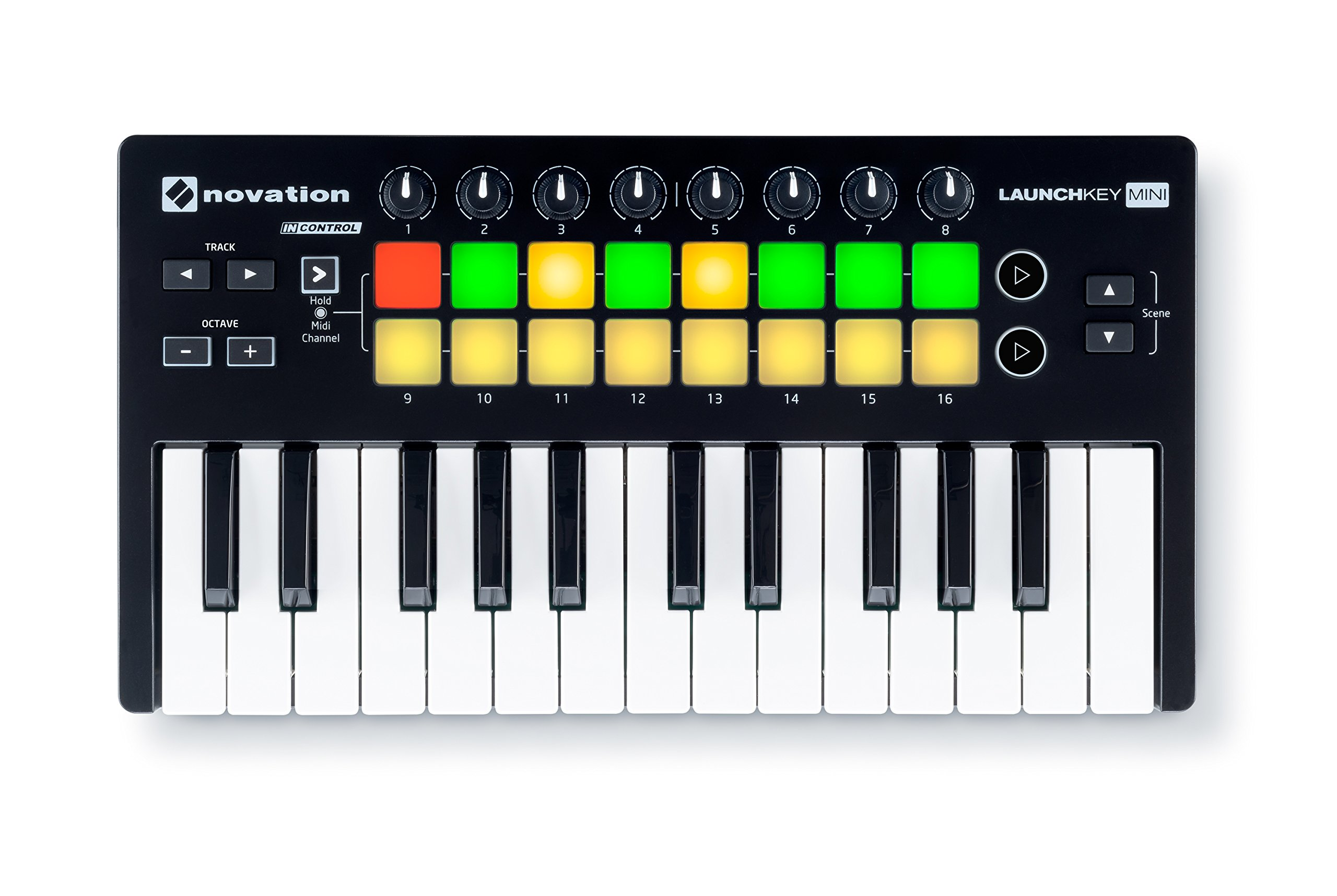 Novation Launchkey Mini 25-Note USB Keyboard Controller, MK2 Version by Novation