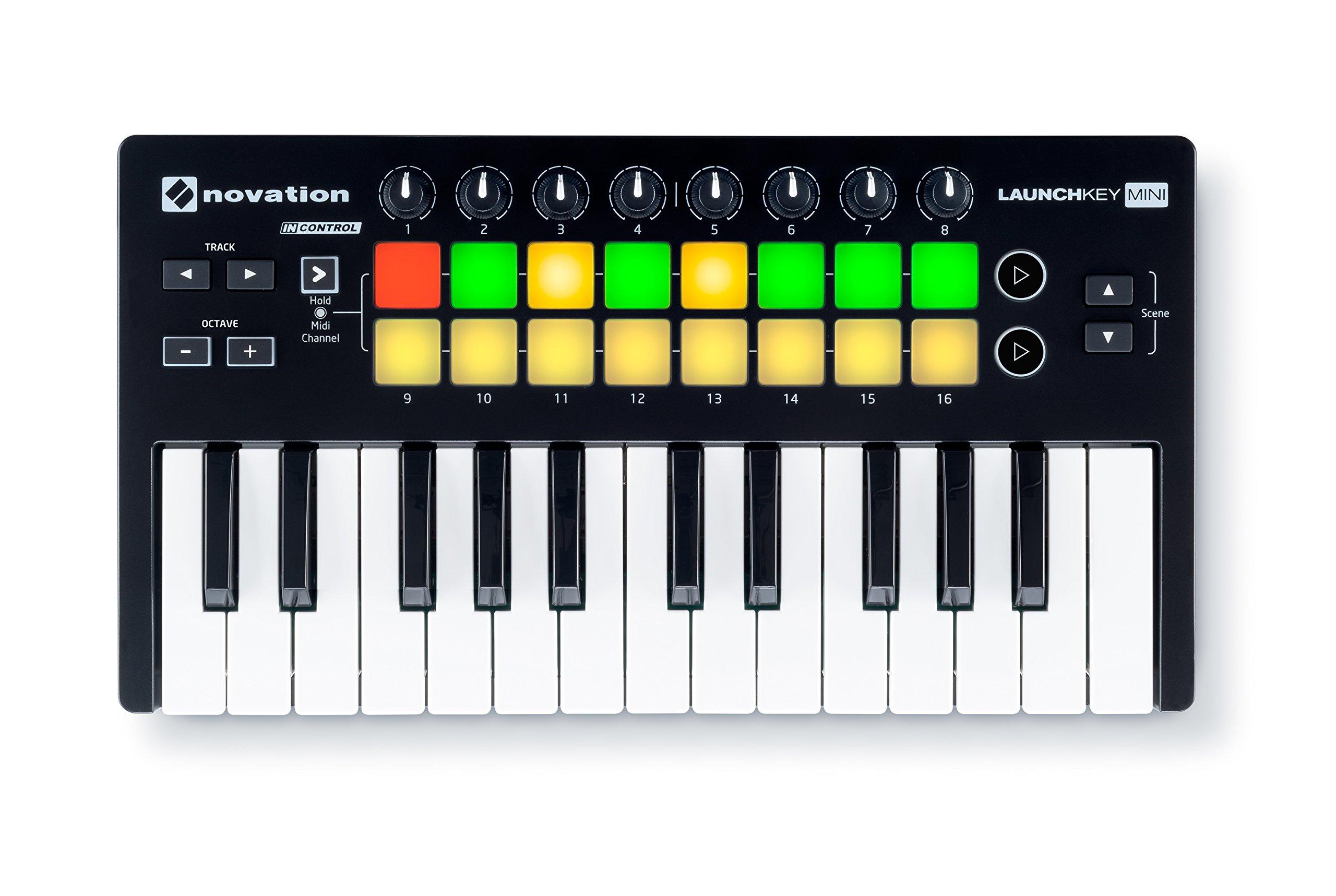 Novation Launchkey Mini 25-Note USB Keyboard Controller, MK2 Version by Novation