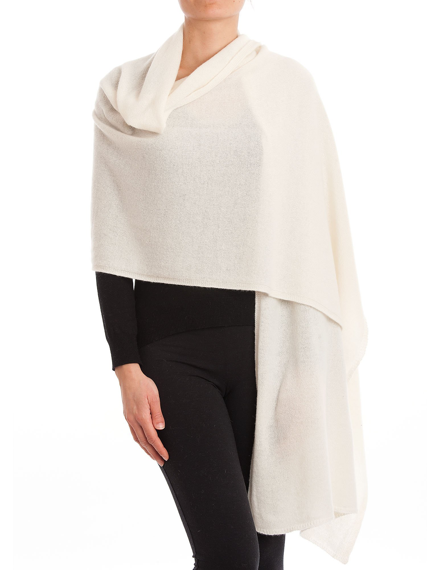 Dalle Piane Cashmere - Stole 100% cashmere - Made in Italy, Color: Cream, One size