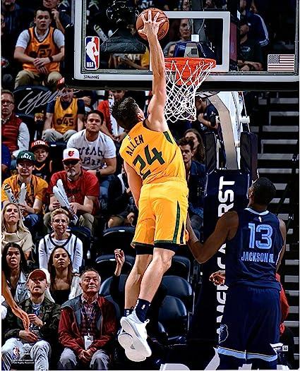 Grayson Allen Utah Jazz Autographed 16 quot  x 20 quot  Yellow Dunking  Photograph - Fanatics Authentic c69317cb2