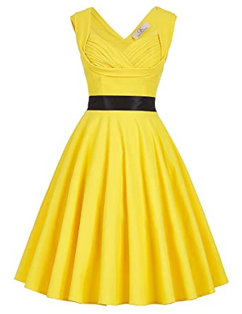 Ladys 40s Vintage Sweetheart Neck Dress Sleeveless Size XL CL8948-3