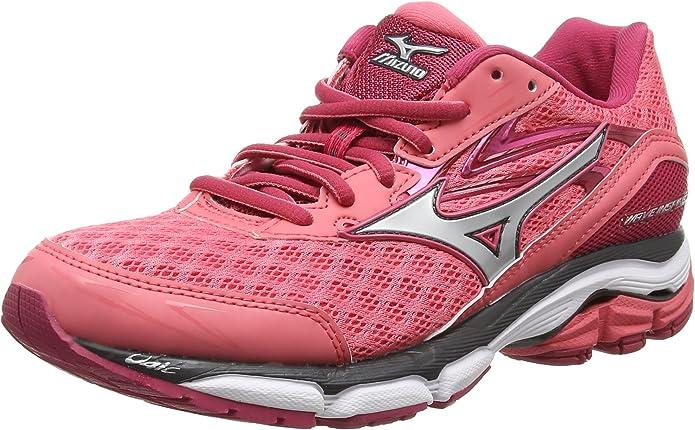 Mizuno Wave Inspire 12, Zapatillas de running Mujer, Rosa (Calypso Coral/Silver/RaspberryWine), 44.5 EU (10 UK): Amazon.es: Zapatos y complementos