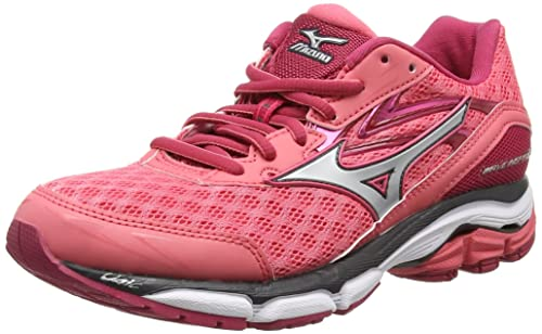 Mizuno Wave Inspire 12, Women's Running Shoes, Calypso Coral Silver  Raspberry Wine, 3