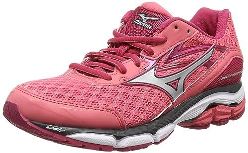 Mizuno Wave Inspire 12, Women's Running Shoes, Calypso Coral Silver  Raspberry Wine, 3