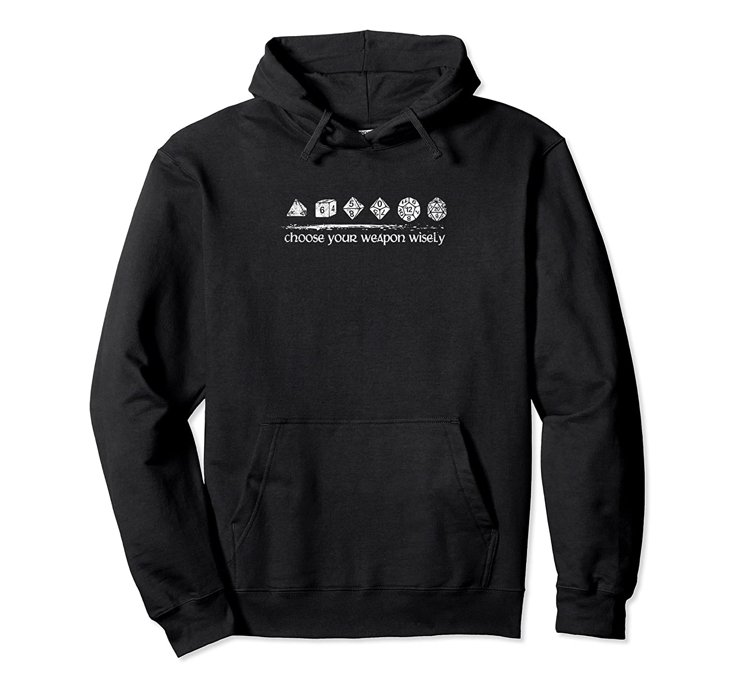 """Dragons """"Choose Weapon Wisely"""" Funny Dungeons and DM Hoodie-fa"""