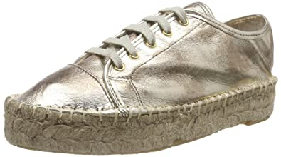 Buffalo London 10701-3YU CAMBOYA, Espadrilles Femme - Or - Gold (Natural 01), 37