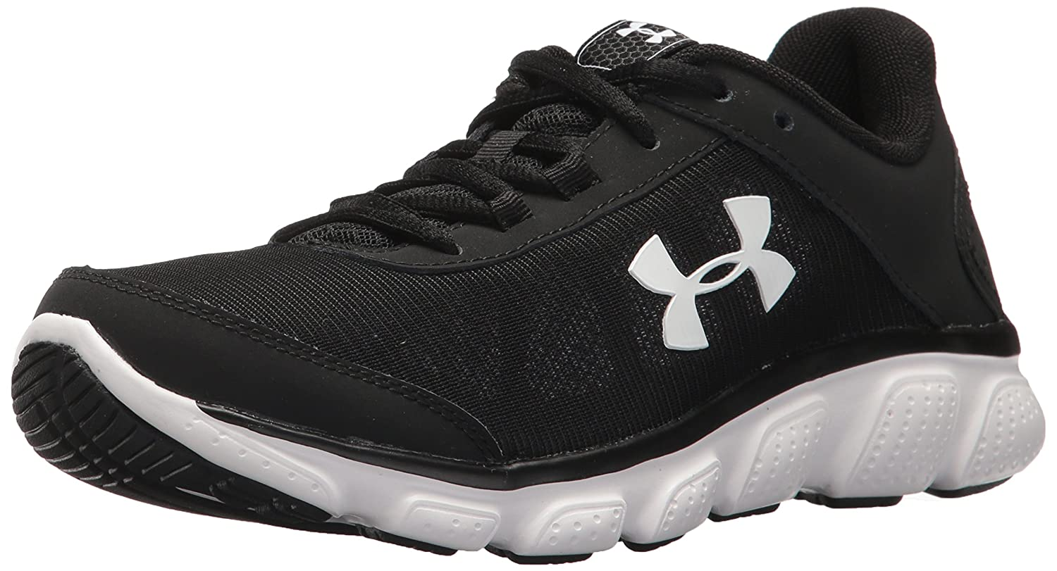 Under Armour Women's Micro G Assert 7 Sneaker, Black/White/White B071VKZGJ5 6.5 M US|Black (001)/White