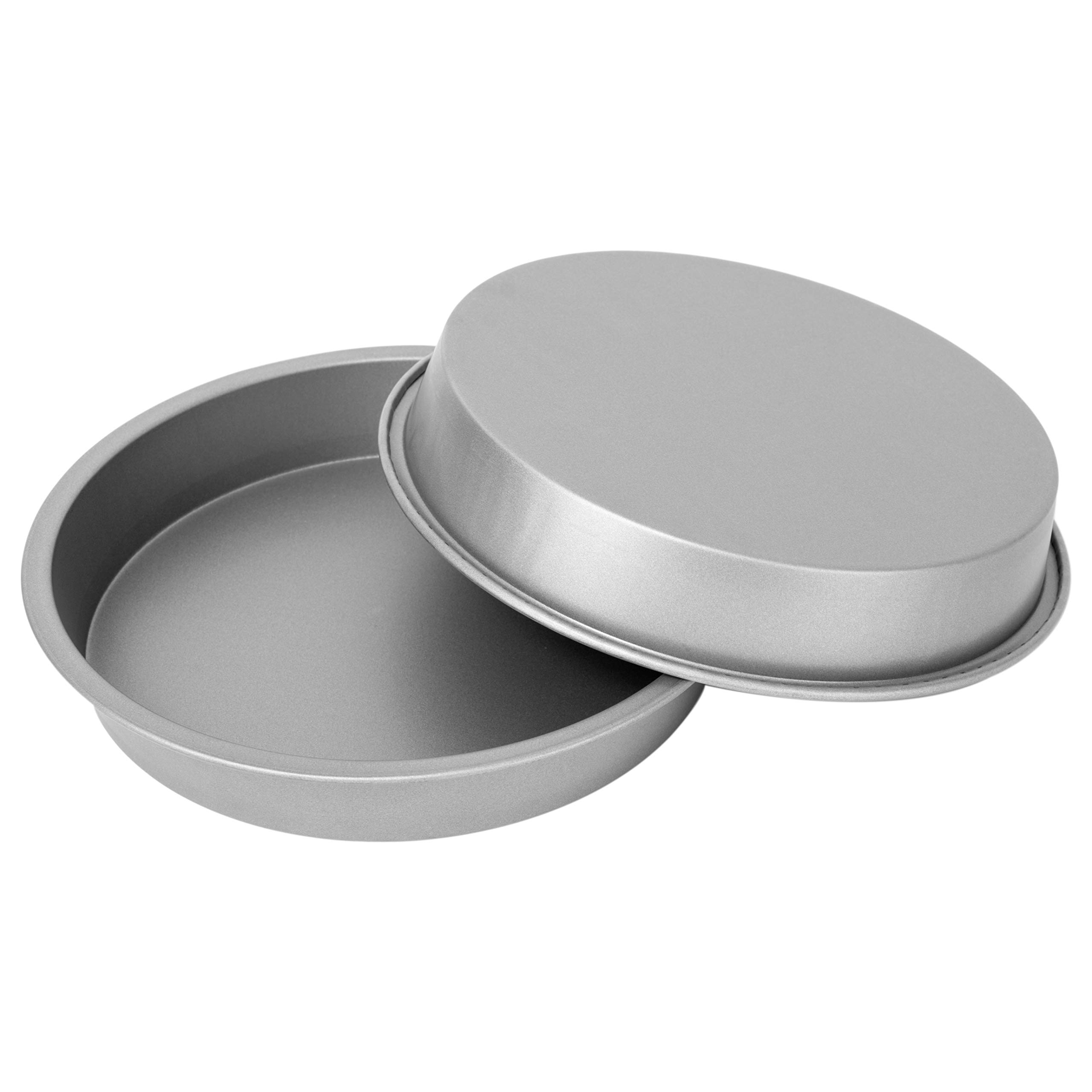 "G & S Metal Products Company OvenStuff Nonstick Round Cake Baking Pan 2 Piece Set, 9"", Gray"