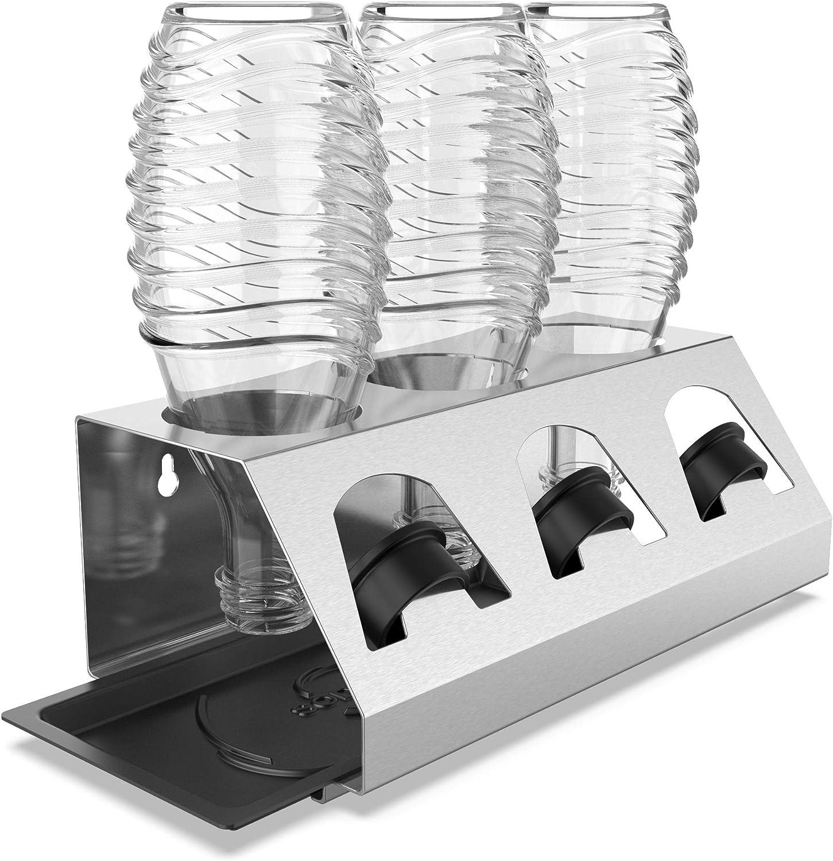 SodaClean® Premium Abtropfhalter Edelstahl 3ér Flaschenhalter