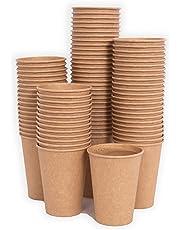 MGGI Trading 100pz Bicchiere di Carta per Bevande Calde 7 OZ - 200 ml - 100pcs 7oz Paper Cups for Hot And Cold Drinks