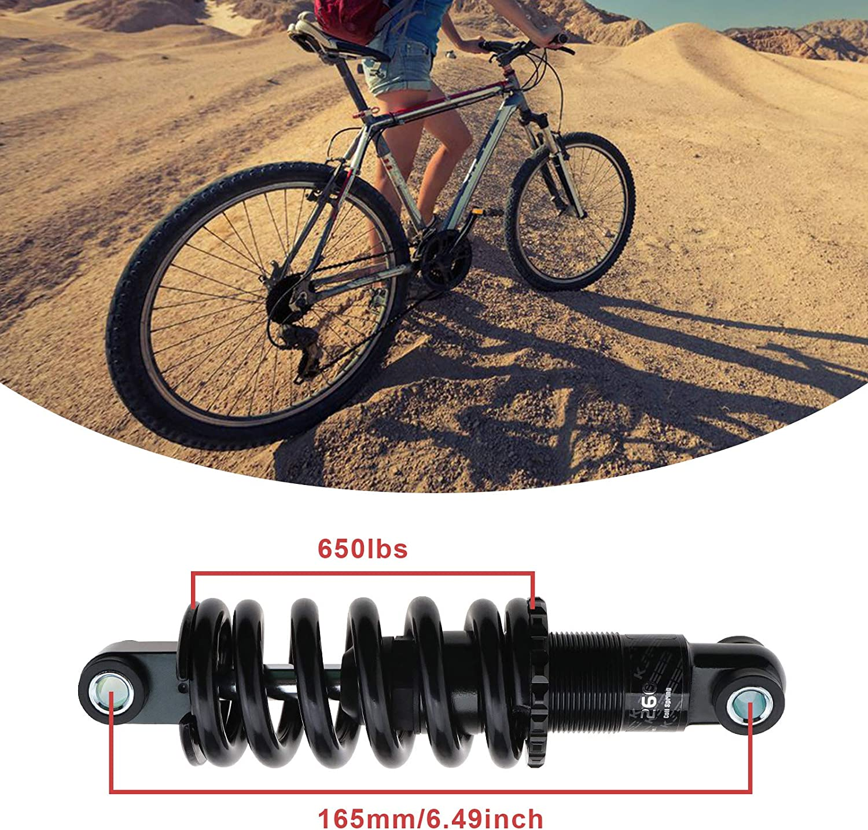 Mountainbike Sto/ßd/ämpfer 165mm 650 Pfund Hinterbau Schraubenfeder KS260 f/ür Abfahrt Rennrad MTB Schwarz
