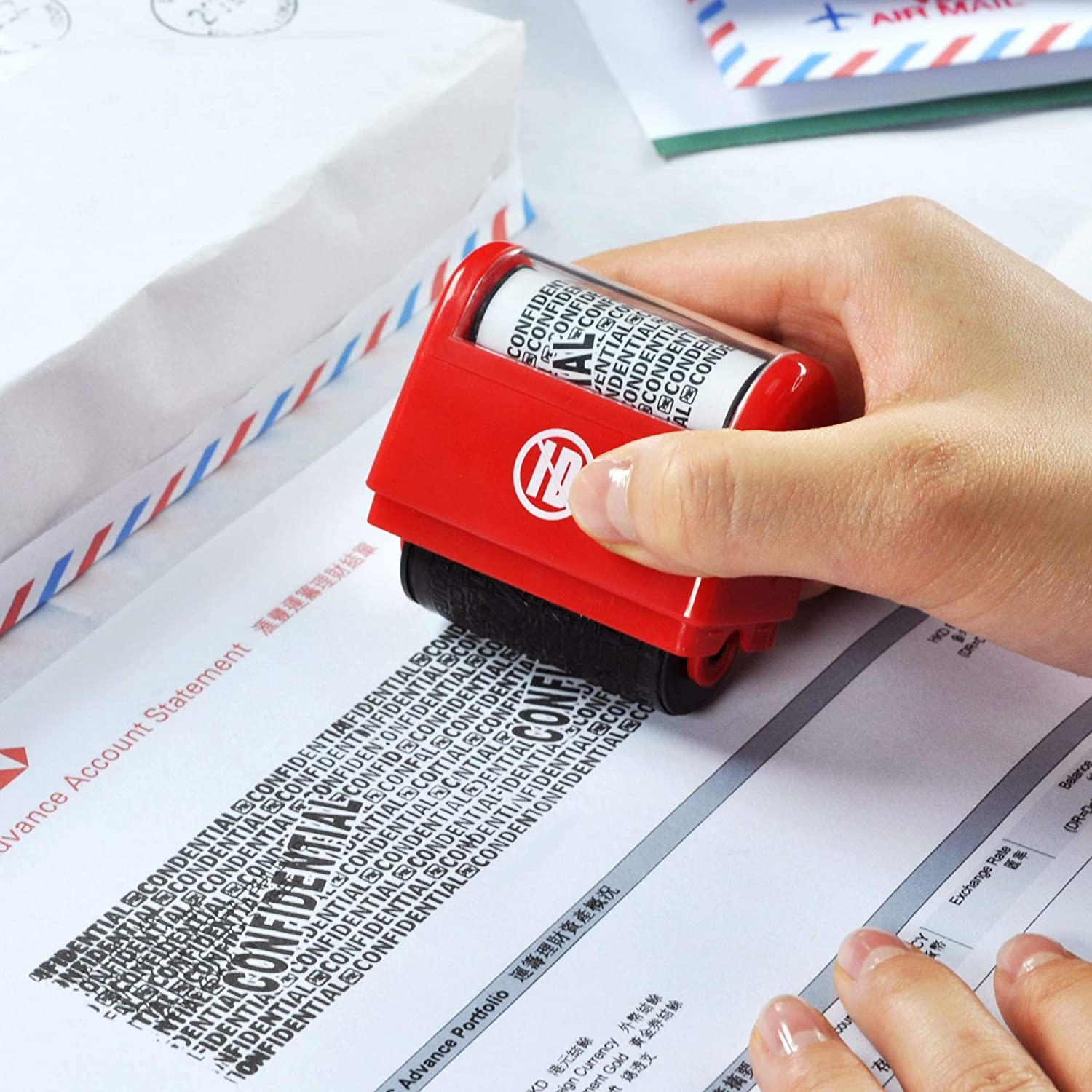 ID Protection Self Inking Stop Identity Theft Erase-It Hide Rolling ...