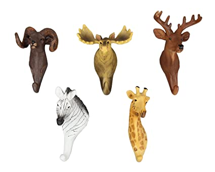 Animal cabeza sola pared gancho lobinse percha con forma de ...