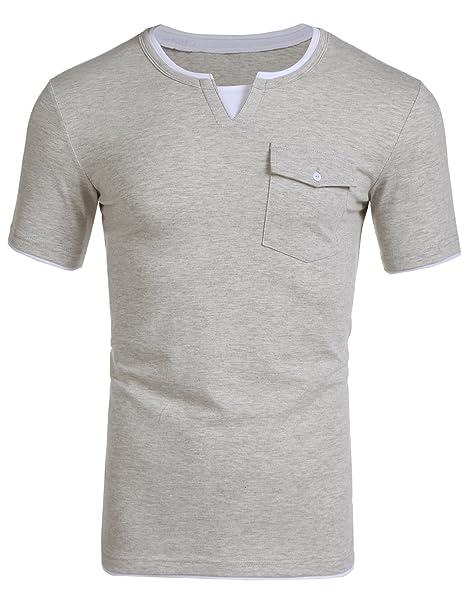cf97f4c73e7d Burlady T-Shirts Kurzarm Sommer Herren Poloshirts Männer Einfarbiges Shirts  Kurzarmshirt Sport Freizeit