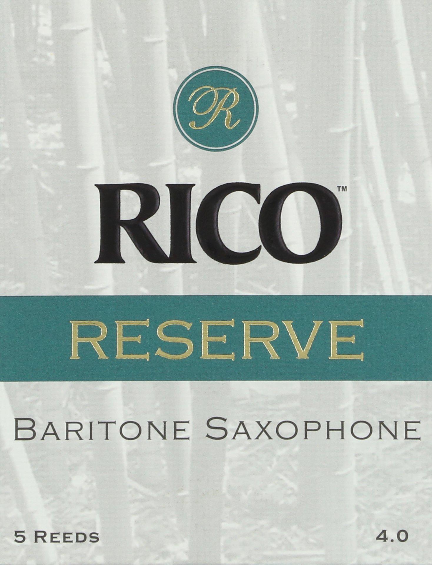 Rico Reserve Baritone Sax Reeds, Strength 4.0, 5-pack