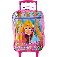 Mala Escolar G com Rodinhas Rapunzel Plus, 38 X 29 X 14, Dermiwil 52146, Multicor