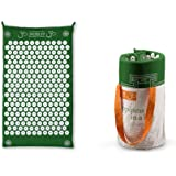 Shakti Mats Modern day Bed of Nails Acupressure Mat with Tote Bag - 6000 Acupressure Points, Green