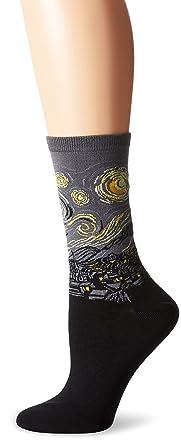 Hot Sox mujer de Vincent van Gogh La noche estrellada pantalones de calcetines