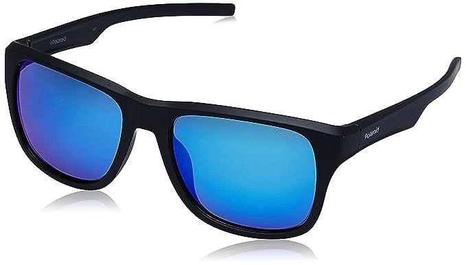 578f6f179d Polaroid PLD3019S - anteojos de sol polarizadas rectangulares para hombre,  negro mate/azul grisÃ