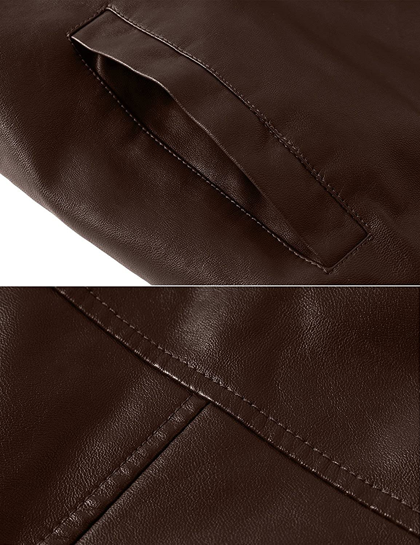 YouzhiWan007 Mens Winter Fashion Faux Leather Jackets Cool