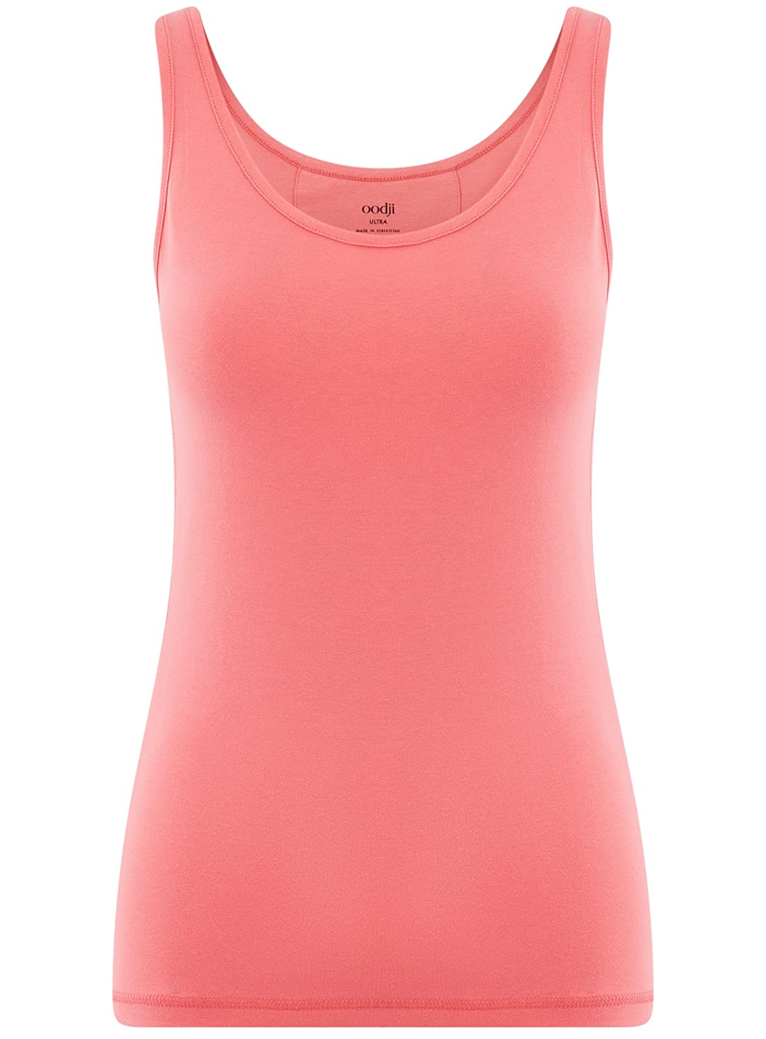e5f49054b5ce2a oodji Ultra Women s Cotton Tagless Tank Top with Grommets  Amazon.co.uk   Clothing