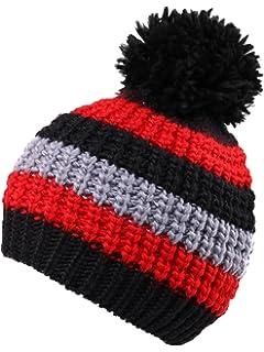 b9bdab7cf7f Arctic Paw Boys Girls Kids Knit Beanie w Pompom Toddlers Children Winter  Hat Cap