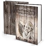 Trauerbuch Notizbuch Tagebuch Gedankenbuch GEDANKEN AN DICH - mit Engel zum Einschreiben und Einkleben von Bildern - DIN A5 mit 148 leeren Seiten! Geschenk zu Weihnachten, Trauer, …