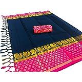 Tagline Women's Cotton Silk Saree with Broket Blouse