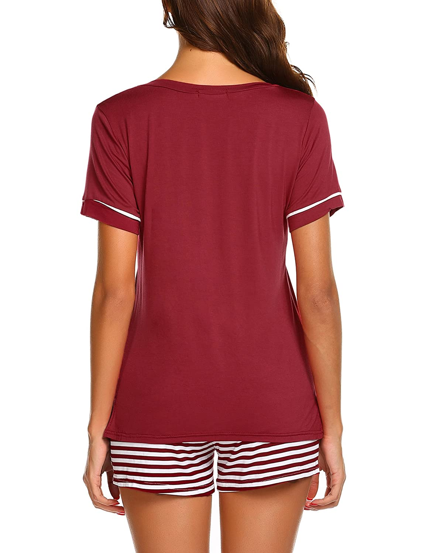 UNibelle Womens Pyjamas Set Short Sleeve Top /& Shorts Loungewear Set Pjs S-XXL