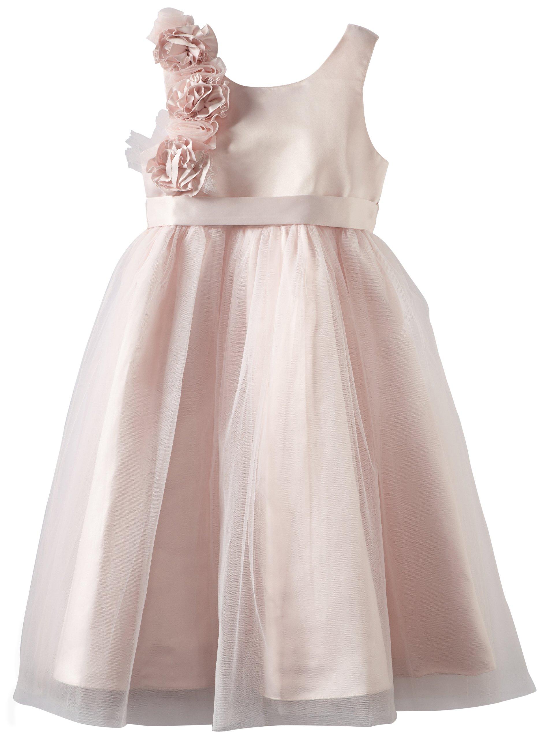Us Angels Big Girls' Empire Dress, Blush Pink, 14