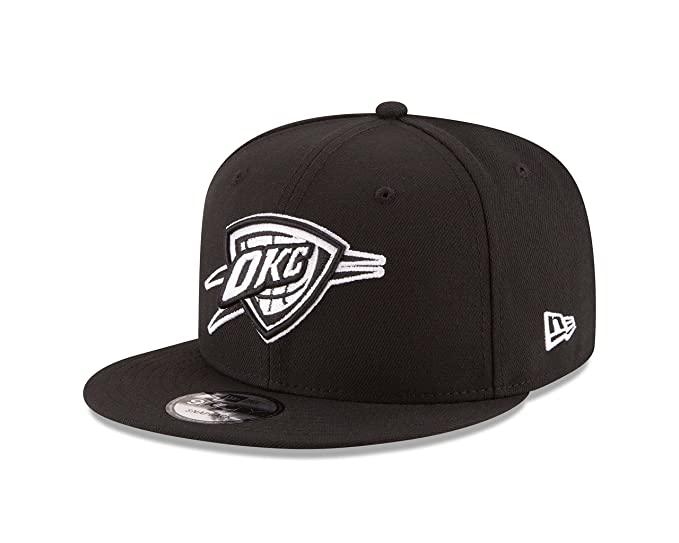 buy popular 700d5 17445 Image Unavailable. Image not available for. Color  New Era NBA Oklahoma  City Thunder Men s 9Fifty Snapback Cap, One Size, Black