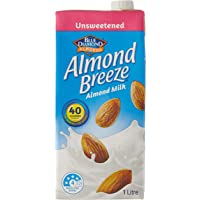 Almond Breeze Unsweetened Almond Milk, 1L (Pack of 8)