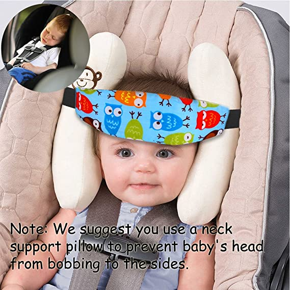 623bc222e4b 2 Pack Baby Car Seat Head Support Band Strap for Car Seats Stroller  Headrest Sleeping Neck Relief Head Strap