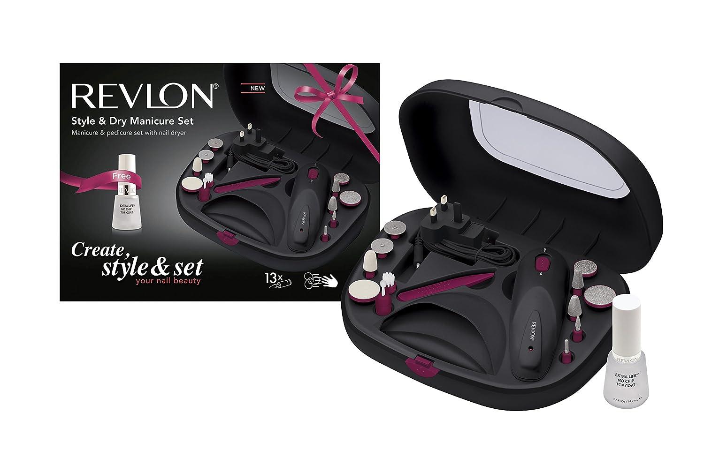 Revlon RVSP3529PKUK Style and Dry Manicure Set: Amazon.co.uk: Health ...