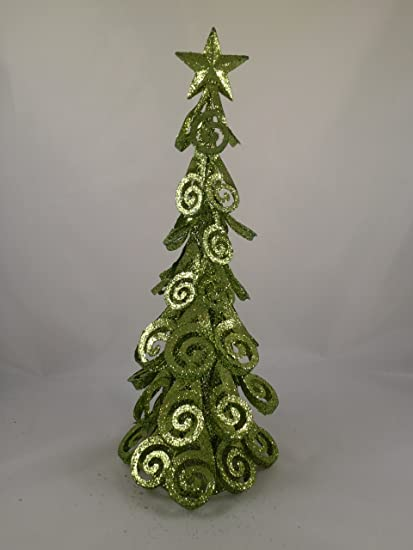 christmas concepts 16 inch lime green metal christmas tree decoration - Lime Green Christmas Tree Decorations