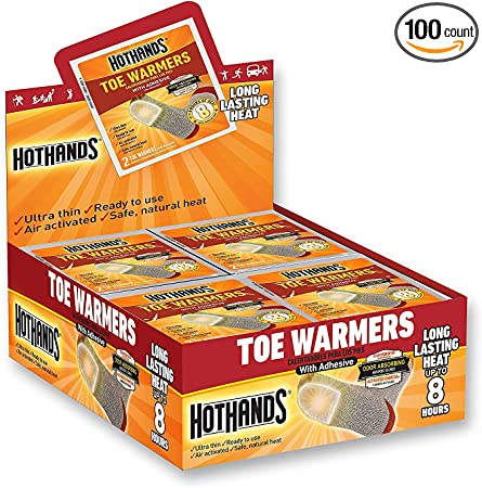 HotHands Toe Warmers 7-Pair Value Pack Ultra-thin Air-activated Safe