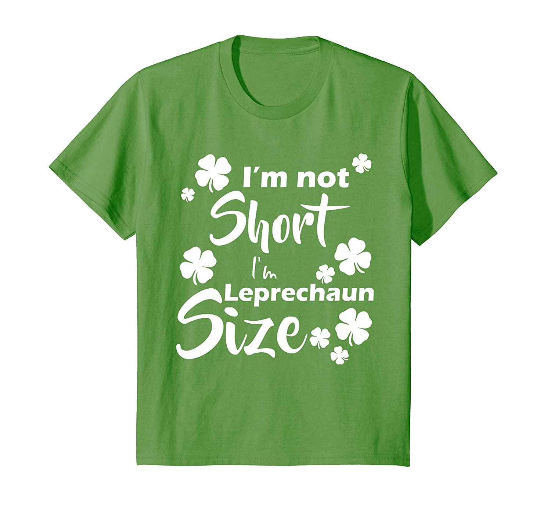Womens Short Leprechaun Pattys T Shirt-Tovacu