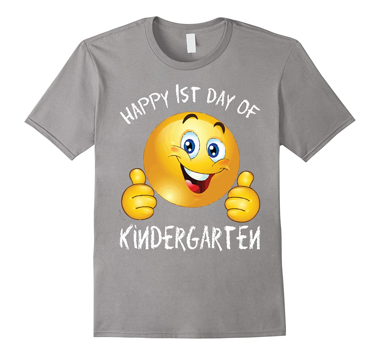 Emoji awesome Happy First Day of Kindergarten TShirt-Art