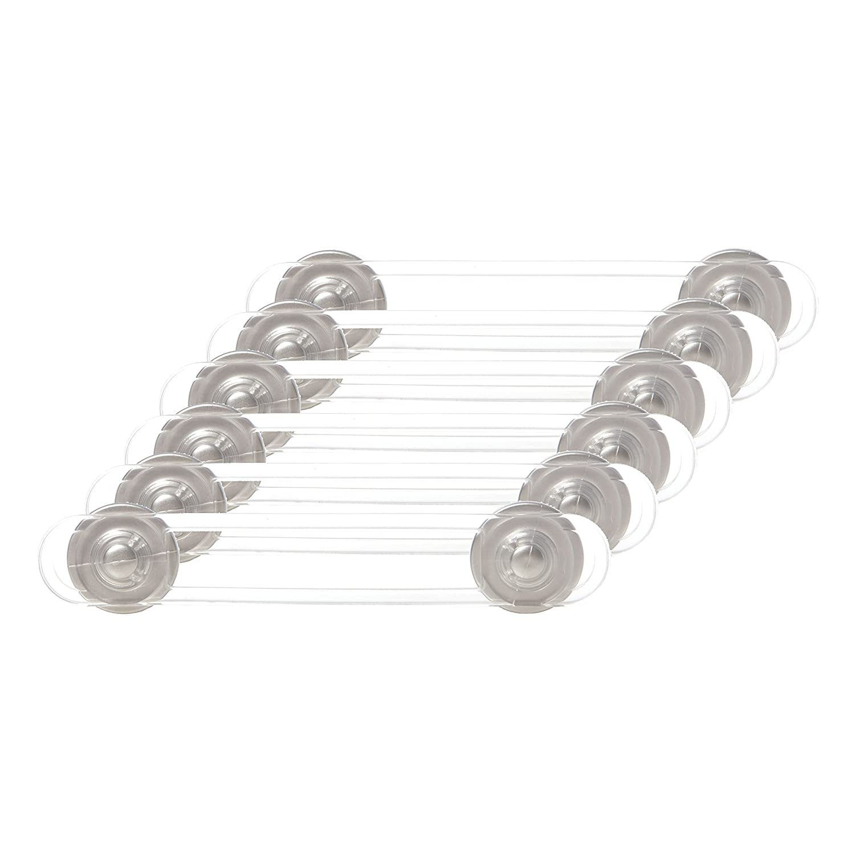 Dreambaby Multi-purpose Latch Pack Of 6, Silver colour